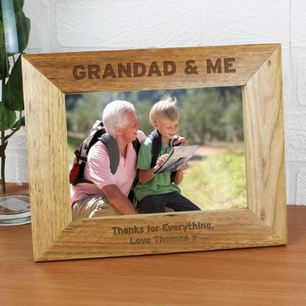 Personalised Grandad & Me 5x7 Photo Frame